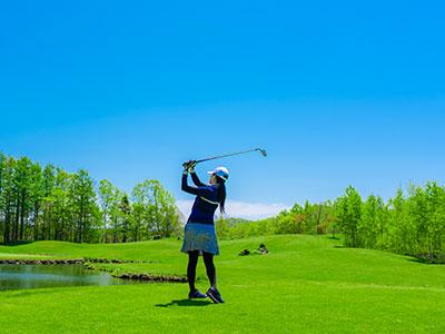 ルスツリゾートゴルフ72 いずみかわコース1